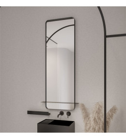 Прямоугольное зеркало с полкой ROUNDCORNER