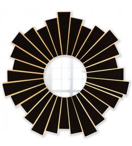 Интерьерное зеркало Black & Wood 60х60