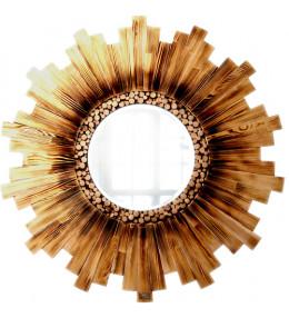 Интерьерное зеркало Fiery Wood 80х80