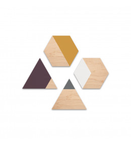 Wood carpet hexagon