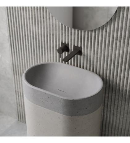 Напольная раковина с бетона Monro
