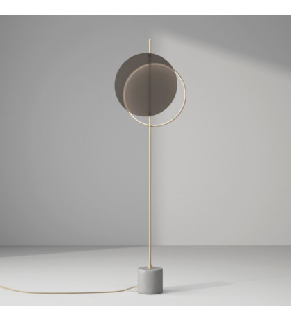 Mid floor lamp glass