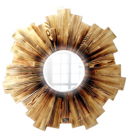 Интерьерное зеркало Fiery Wood 60х60