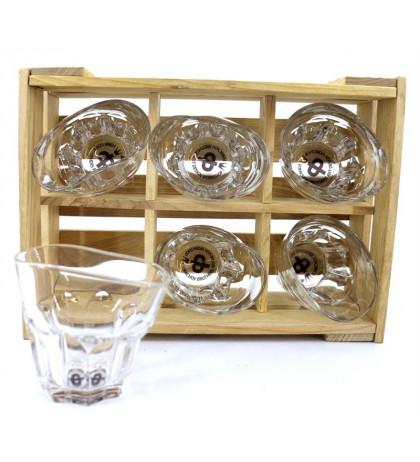 """Пьяные стаканы-рокс """"Виски со льдом"""" набор 6 шт"""