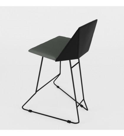 Кожаный барный стул Origami