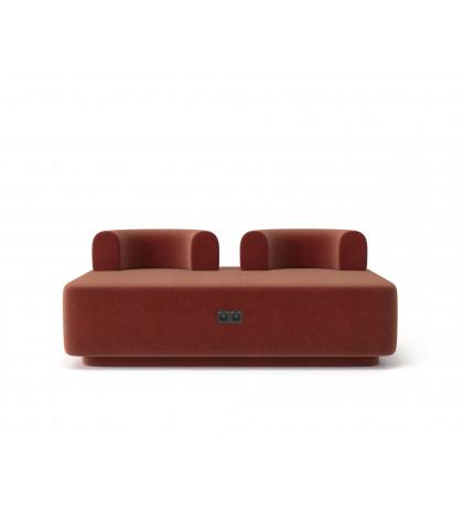 Модульный диван Plump терракотовый